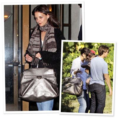 Katie and Suri Sport Matching Ferragamo Bags
