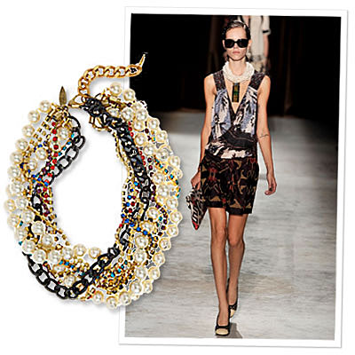 How to Accessorize Spring Fashion Trends - Prints - Beaded Necklace - Dries Van Noten - Fallon