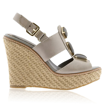 Chic Jeweled Wedges from instyle.com