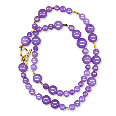 Janis Provisor Lavender Jade Necklace