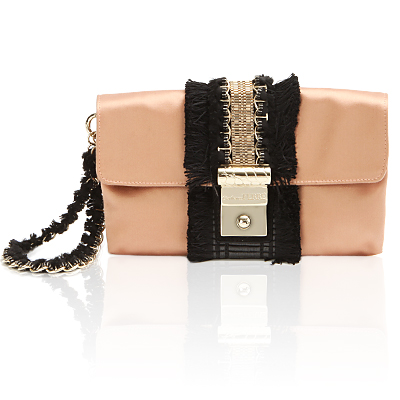 Gianfranco Ferré Satin Clutch :  handbag bag satin nude
