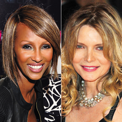 Iman, Michelle Pfeiffer