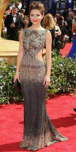 Maria Menounos in Jimmy Choo at 2010 Emmy Awards in Hollywood California.