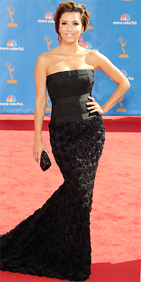 Eva Longoria Parker in robert Rodriguez at 2010 Emmy Awards in Hollywood California.