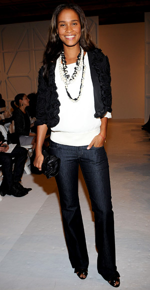 Joy Bryant - Throw on some Layered Necklaces - Jeans Trends - Denim