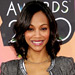Zoe Saldana  - Wear with a Strong-Shoulder Jacket - Jeans Trends - Denim