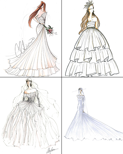 kate middleton wedding dress sketch. Fashion Designers Sketch Kate