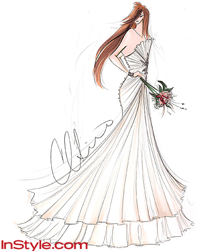 Fashion Designers Sketch Kate Middleton's Wedding Dress - Christian Siriano