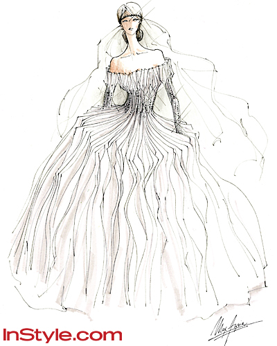Fashion Designers Sketch Kate Middleton s Wedding Dress - Max AzriaFashion Designs Wedding Dresses