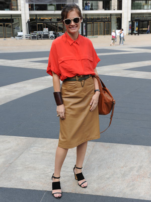 Beyond the Runways: Leather Skirts
