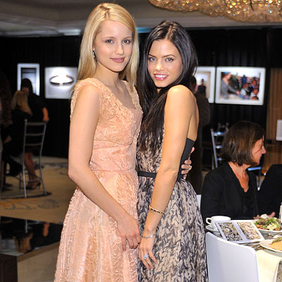 Dianna Agron Golden Globes 2010. Dianna Agron and Jenna Dewan