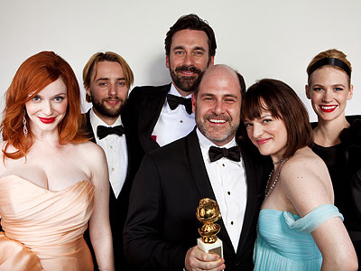 Golden Globes Backstage Portraits - Cast of Mad Men