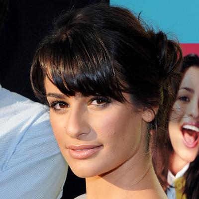 lea michele hair bangs. Lea Michele-Glee Academy