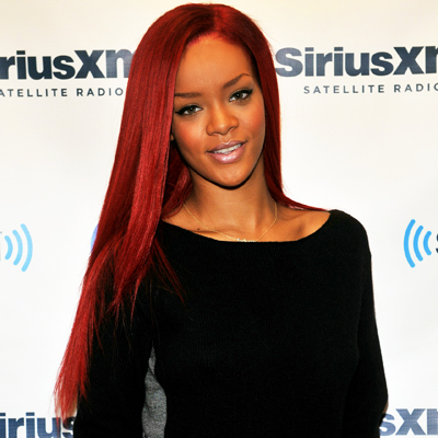 rihanna red hair long. Rihanna - long hair - red hair