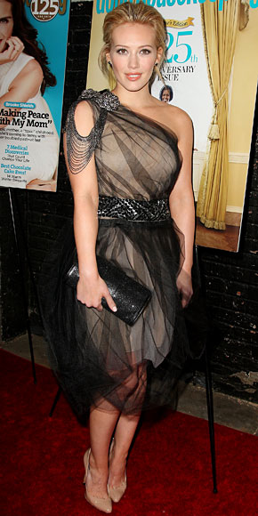 Hilary Duff in Vera Wang