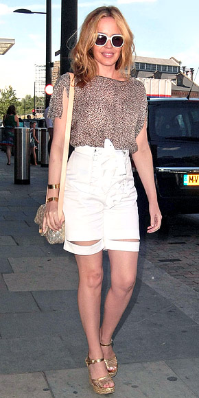 Kylie Minogue wearing Yves