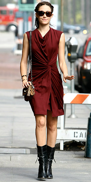 Emmy Rossum | September 26, 2010  - Look of the Day | Photo Gallery - Fashion - InStyle from instyle.com