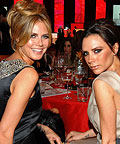 2010 Oscar Parties - Heidi Klum and Victoria Beckham - Elton John Viewing Party