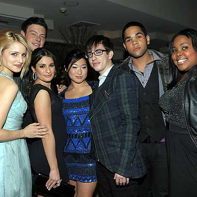 dianna agron lea michele cory monteith. Parties - Dianna Agron, Lea