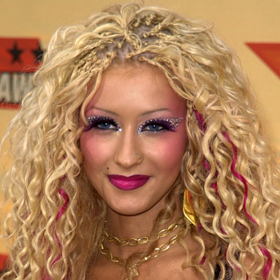 christina aguilera hair colors. christina aguilera hair up.
