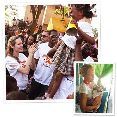 angelina jolie - brad pitt - haiti