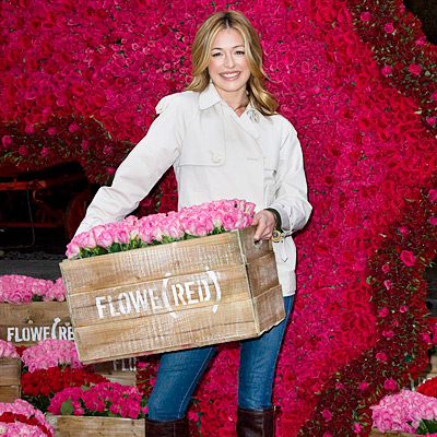 Cat Deeley Launches Flowe(Red) Campaign