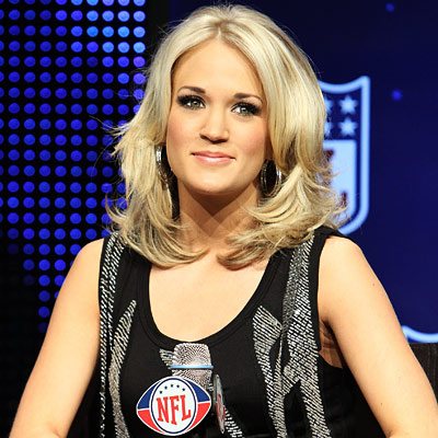 Carrie Underwood Kicks Off Super Bowl Sunday<br />