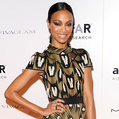 Zoe Saldana Dishes On Her Fashion Week Plans<br />