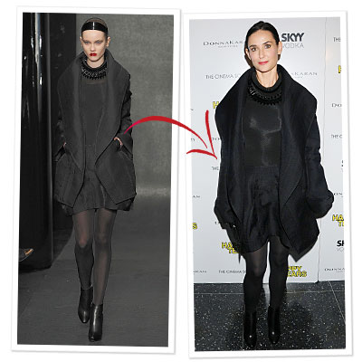 Demi Wears Donna Karan Right Off The Runway