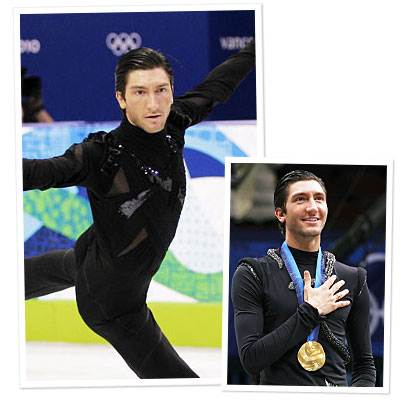 Evan Lysacek Skates in Vera Wang