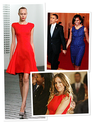 SJP Meets Michelle Obama in Victoria Beckham
