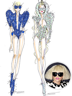 Lady Gaga Taps Armani for European Tour