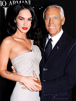 giorgio armani - megan fox - makeup - new face