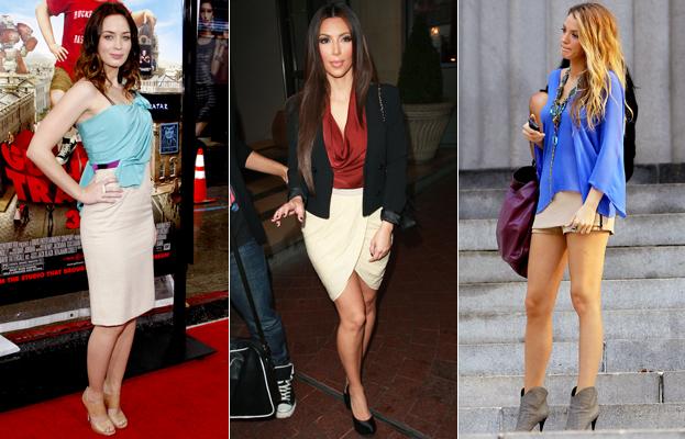 Emily Blunt, Kim Kardashian and Blake Lively