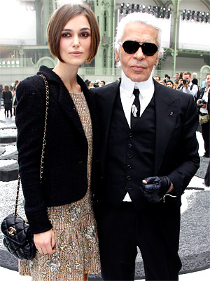 Karl Lagerfeld and Keira Knightley