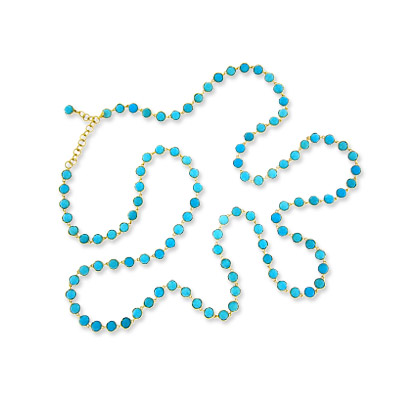 Irene Neuwirth Turquoise and Gold Necklace