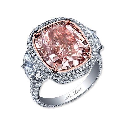 Neil Lane Pink and White Diamond Ring