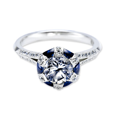 Tacori Diamond and Sapphire Ring