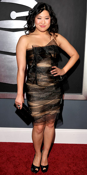 Jenna Ushkowitz - Red Carpet Arrivals - Grammy Awards 2011
