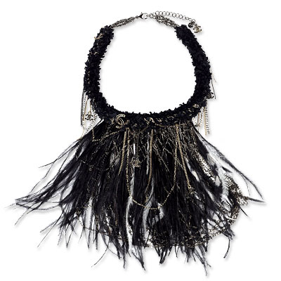 Chanel Feather Bib Necklace
