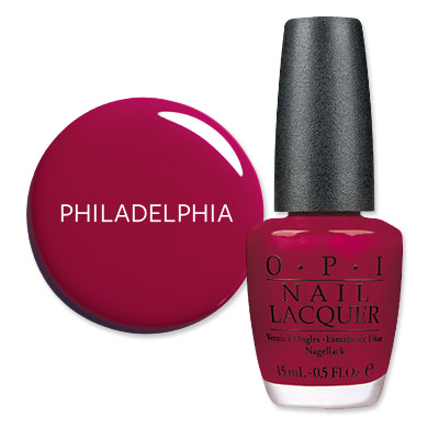 Philadelphia - America's Most Wanted Nail Colors - OPI Malaga Wine