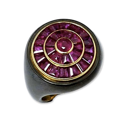 Bulgari Ruby and Gold Ring
