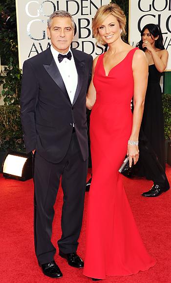 George Clooney - Stacy Kiebler - Golden Globes