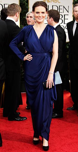 Emily Deschanel - Golden Globes - BCBG Max Azria