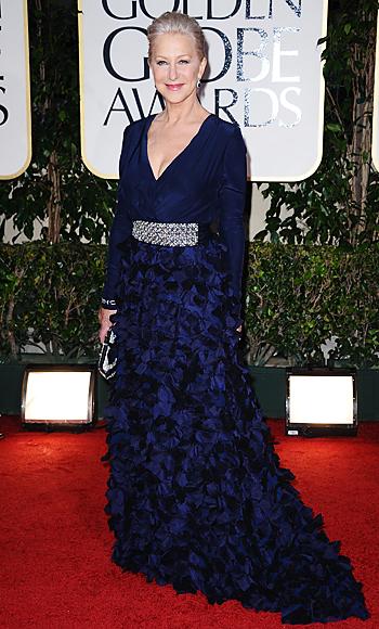 Helen Mirren - Golden Globes - Badgley Mischka