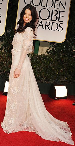Jessica Biel - Golden Globes -  Elie Saab