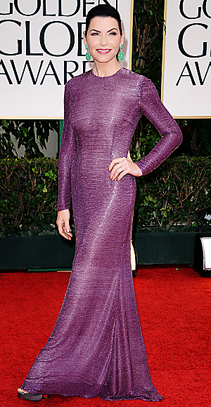 Julianna Margulies - Golden Globes dress - The Good Wife
