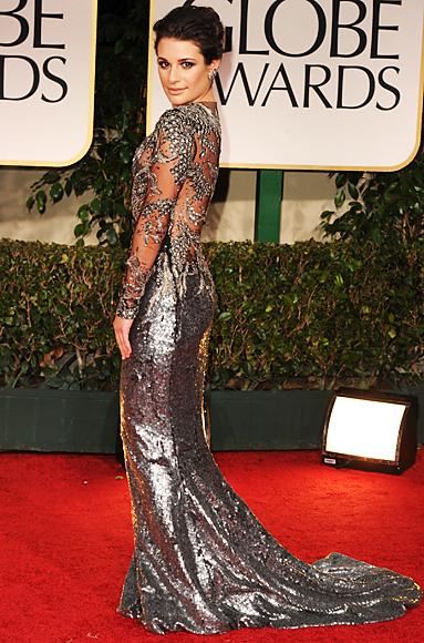 Lea Michele - Golden Globes - Marchesa