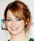 Emma Stone - Daily Beauty Tip - blue eyeliner