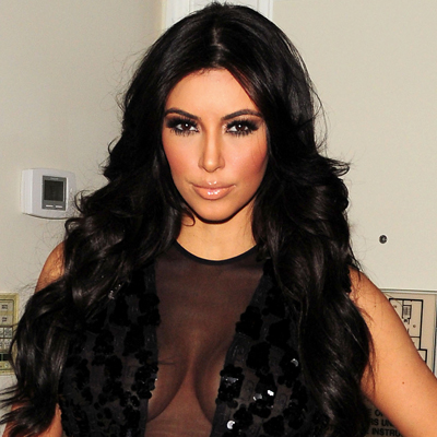 Kim Kardashian - Late Show With David Letterman - smoky eyes